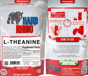 Hard Rhino L-Theanine - supplement