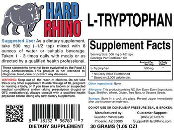 Hard Rhino L-Tryptophan -