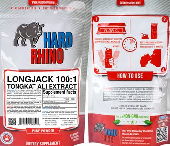 Hard Rhino Longjack 100:1 Tongkat Ali Extract - supplement