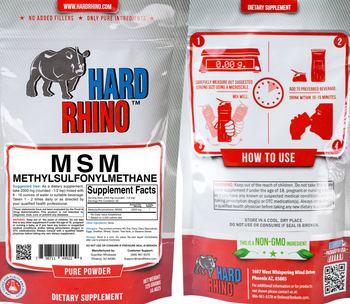 Hard Rhino MSM Methylsulfonylmethane - supplement