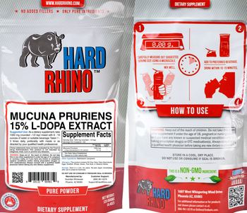 Hard Rhino Mucuna Pruriens 15% L-Dopa Extract - supplement