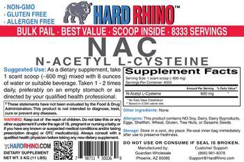 Hard Rhino NAC N-Acetyl L-Cysteine - supplement
