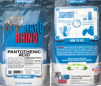 Hard Rhino Pantothenic Acid - supplement
