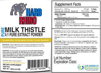 Hard Rhino Pure Milk Thistle 4:1 Pure Extract Powder - supplement