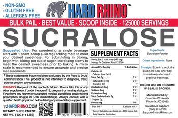 Hard Rhino Sucralose - supplement
