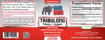 Hard Rhino Tribulong Tribulus + Longjack 800/400 mg - supplement
