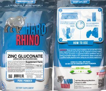 Hard Rhino Zinc Gluconate (Zincum Gluconicum) - supplement