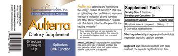 Harmonic Innerprizes, Inc. Aulterra - supplement