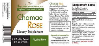 Harmonic Innerprizes, Inc. Chamae Rose - supplement