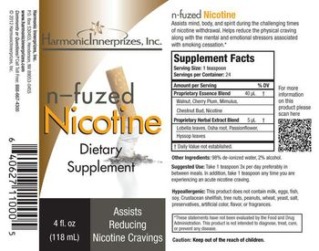 Harmonic Innerprizes, Inc. N-Fuzed Nicotine - supplement