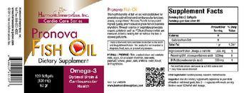 Harmonic Innerprizes, Inc. Pronova Fish Oil - supplement