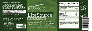 Harmonic Innerprizes LifeSource SuperSprouts - supplement