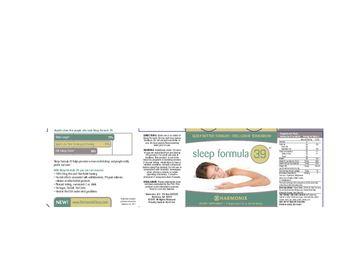Harmonix Sleep Formula 39 - supplement