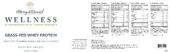 Harry & David Wellness Grass-Fed Whey Protein Grass-Fed Whey - Vanilla - supplement