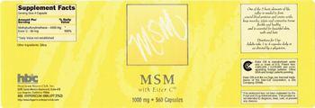 HBC Hypericum Buyers Club MSM 1000 mg With Ester C -