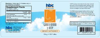 HBC Protocols Griffonia 5-HTP - supplement