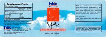 HBC Protocols SAM-e 400 mg -