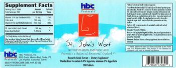 HBC Protocols St. John's Wort With B Vitamins And Folic Acid - supplement