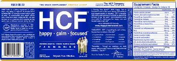 HCF Happy - Calm - Focused - supplement