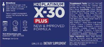 HCG PLATINUM X-30 Plus - supplement