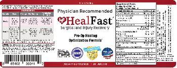 HealFast Pre-Op Healing Optimization Formula - supplement