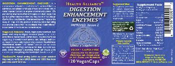 Health Alliance Digestion Enhancement Enzymes - supplement