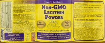 Health Alliance Non-GMO Lecithin Powder -