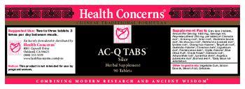 Health Concerns AC-Q Tabs Siler - herbal supplement