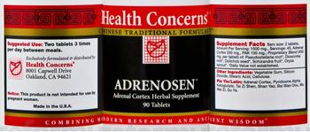 Health Concerns Adrenosen - adrenal cortex herbal supplement