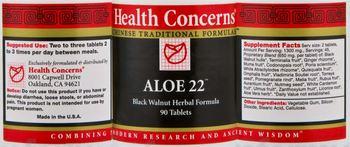 Health Concerns Aloe 22 -