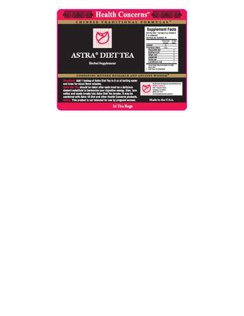 Health Concerns Astra Diet Tea - herbal supplement