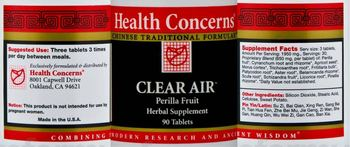 Health Concerns Clear Air - perilla fruit herbal supplement
