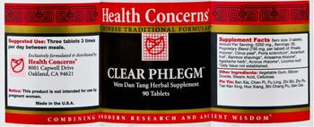 Health Concerns Clear Phlegm - wen dan tang herbal supplement