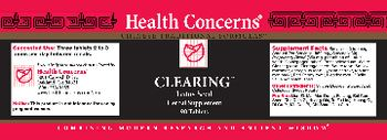 Health Concerns Clearing - herbal supplement
