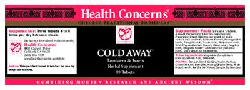 Health Concerns Cold Away - herbal supplement
