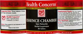 Health Concerns Essence Chamber - saw palmetto herbal supplement