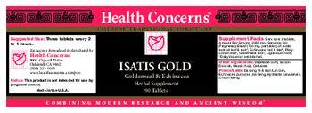Health Concerns Isatis Gold - herbal supplement