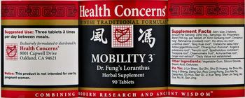 Health Concerns Mobility 3 - dr fungs loranthus herbal supplement