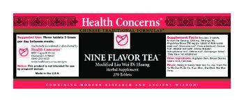 Health Concerns Nine Flavor Tea - herbal supplement