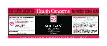 Health Concerns Shu Gan - herbal supplement