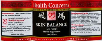 Health Concerns Skin Balance - dr fungs herbal supplement