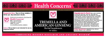 Health Concerns Tremella And American Ginseng - herbal supplement