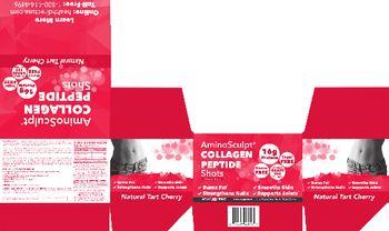 Health Direct AminoSculpt Collagen Peptide Shots Natural Tart Cherry - supplement