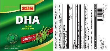 Health From The Sun DHA From Algae Oil - supplement