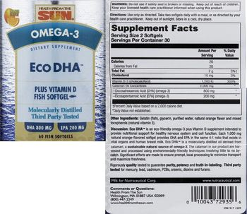 Health From The Sun Eco DHA Orange Flavor - supplement