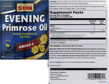 Health From The Sun Evening Primrose Oil - supplement