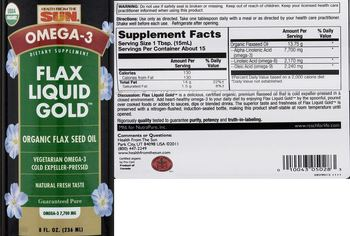 Health From The Sun Flax Liquid Gold - supplement