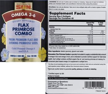 Health From The Sun Flax Primrose Combo - supplement