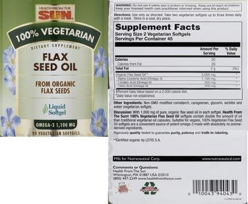 Health From The Sun Flax Seed Oil - supplement