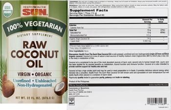 Health From The Sun Raw Coconut Oil - supplement